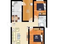 龙跃东二区·两室两厅  地中海  半包8.2万
