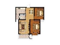 青枫墅园·两室两厅  美式  半包6.8万