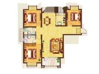 美湖家园·三室两厅  简约  半包8万
