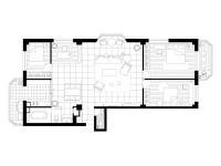 海馨城市花园·三室两厅  简约  半包8万