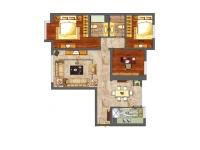 周东南路599弄·三室两厅  简约  半包8万