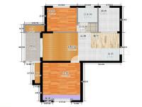 骏丰玲珑坊·两室两厅  混搭  半包16万