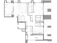 蔚蓝域·三室两厅  简约  半包9.5万
