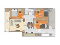 万科悦城·三室两厅  简约  半包8万