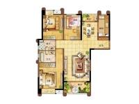 天虹公寓·三室两厅  现代  半包8万