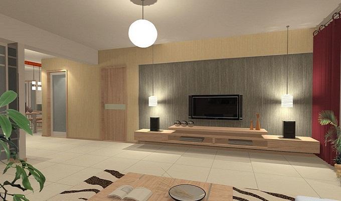 客厅电视背景墙壁灯布置有讲究