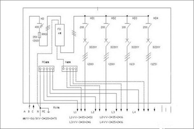 详解三:配齐所有设备,安装配电箱 要打准备的仗肯定是要把设备配备齐全,然后才能完成接下来的工作---测量额定电流和电路工作时的电压。最后就是配电箱的配置,配置的根据是家用电路的电源,按照配电箱再设计一个配电箱接线图。到这里,工作已经接近尾声,剩下的就是配电箱接线图的安装与施工,有了之前的基础,安装可是非常方便的。但是,要提醒大家,不要自己单独安装,为了自身的安全,还是找专业的师傅为大家安装较好。 以上就是兔狗小编给大家讲的家用照明配电箱接线图,当然兔狗小编讲的接线方法只是很多方式中的一种,但最重要的是网