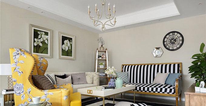 欧式田园风格的特点主要在于家具的洗白处理及大胆的配色,以明媚的色彩设计方案为主要色调,家具的洗白处理能使家具呈现出古典美,而红、黄、蓝三色的配搭,则显露着土地肥沃的景象,而椅脚被简化的卷曲弧线及精美的纹饰也是法式优雅乡村生活的体现。 多以白色为主,木制的较多,有选择带坐垫的椅子,也有选择不带坐垫的椅子,木制表面的油漆或体现木纹,或以纯白瓷漆为主,但不会有复杂的图案在内,坐垫的布艺图案也是根据整体风格来定的,选择的当然还是以花草为主,体现出乡村的自然感。