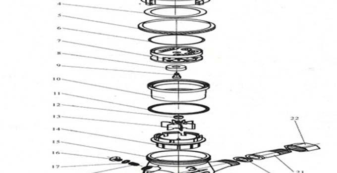 家庭常用水表结构图解