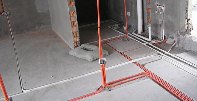 水电路线不能在同一槽内,每个下水口都要进行通水试验.