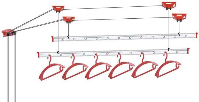 晾衣架安装方法步骤之钢丝链接
