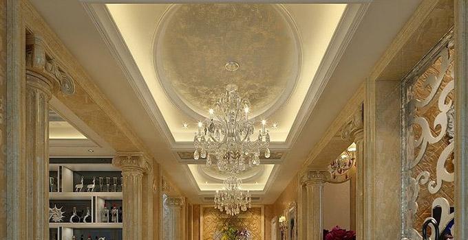 装修经验 设计阶段 客厅走廊吊顶设计 抬头就能看到美景     轻型灯具