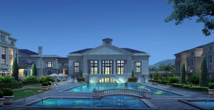 别墅风水之深蓝色