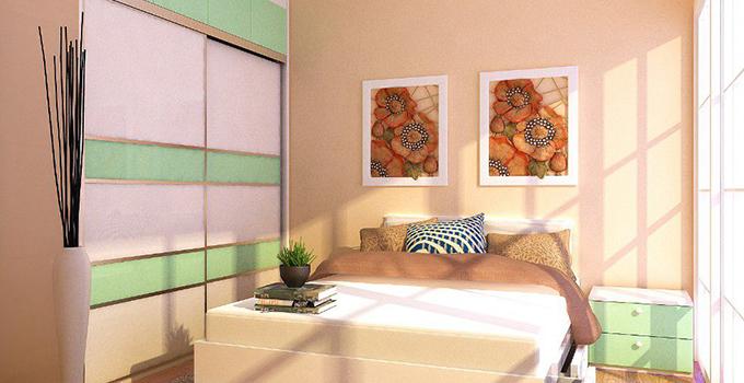 在家具颜色搭配上,可以采用统一颜色,比如欧式风格卧室,可以选择白色