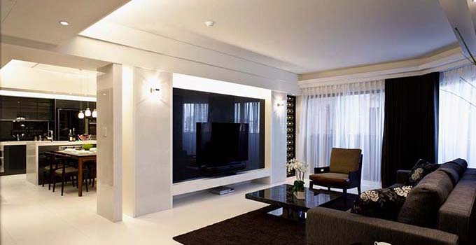 这样的客厅色彩搭配让人眼前一亮