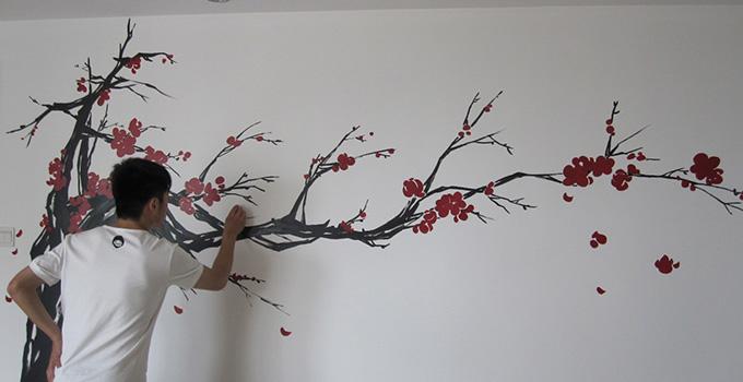 专属你个性的私人订制——手绘涂鸦墙
