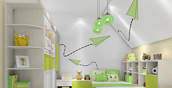 儿童房墙面涂鸦设计欣赏