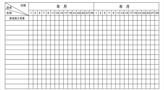 你知道装饰工程施工进度表怎么看吗高清图片