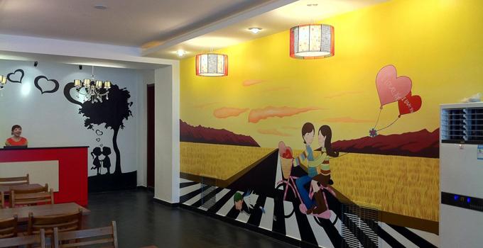 商业墙面彩绘适用于大型商场,幼儿园,停车场,体育场等.