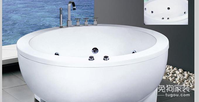 圆形浴缸选购帖,常见的圆形浴缸有哪些尺寸?