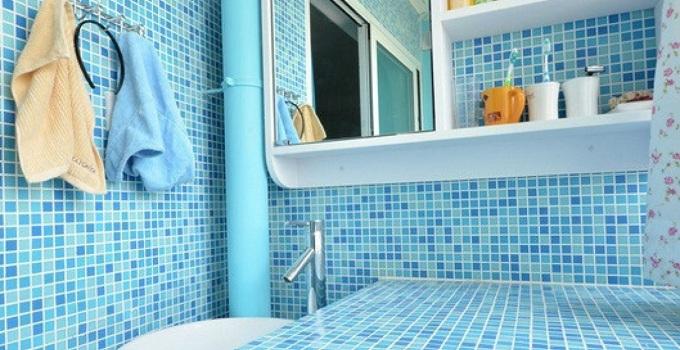 浴室马赛克设计,小小浴室马上变得不一样!