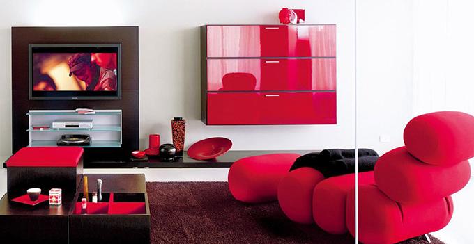 软装搭配:红色家具搭配什么样的窗帘才好看?