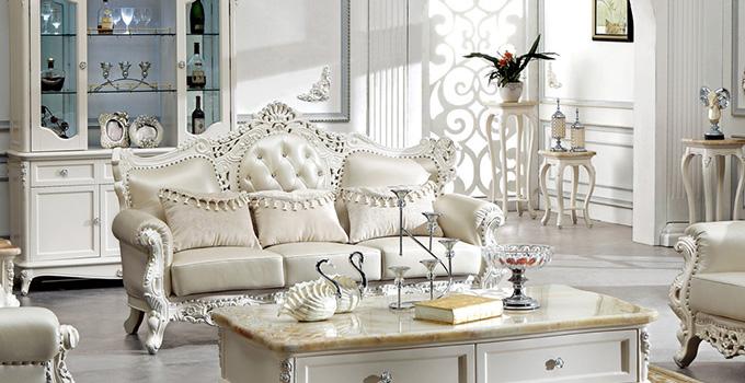 白色欧式实木家具作为一种典雅的欧式家具风格