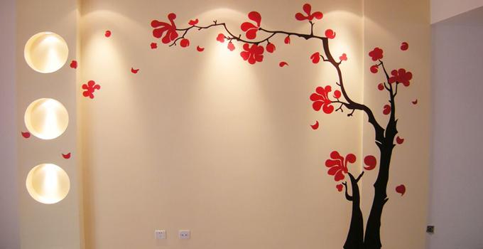 丙烯手绘墙壁教程视频