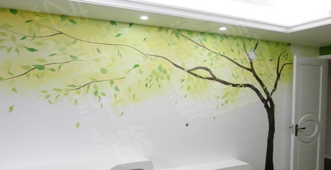 墙面装修看过来 家装手绘墙特点及制作方法