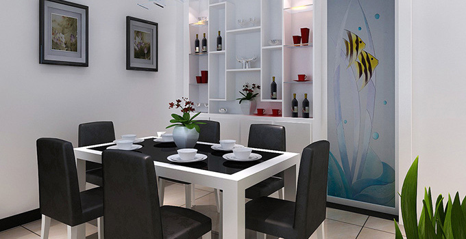 4,餐厅现代风格壁柜的安装    在制作壁柜是,最重要的就是轨道的安装