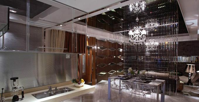 不一样的餐厅环境 餐厅客厅隔断珠帘风水