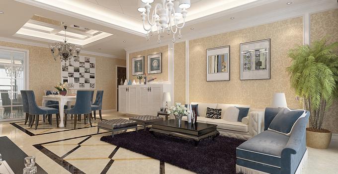 客廳墻面裝飾技巧 客廳壁紙設計的介紹