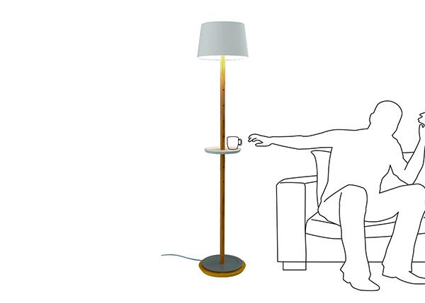 迷你多层置物架台灯
