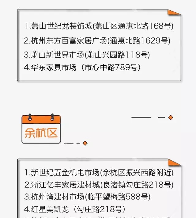 杭州家居建材市场大全,献给正装修的你!