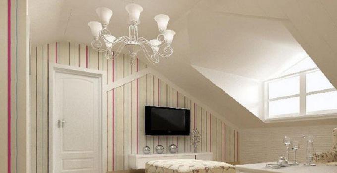 的吊顶设计很简单,从而配合了全室的整体风格.而白色的风格,配上阁楼