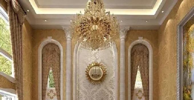 欧式吊顶的简奢华造型
