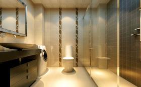 黄色简欧卫生间浴室柜图片
