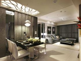灰色现代客厅吊顶图片