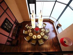 现代中式三居室装修效果图片