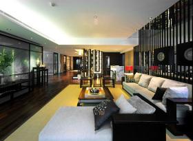 黑色中式客厅装潢