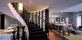 黑色中式楼梯案例欣赏
