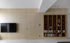 黄色中式客厅收纳装修