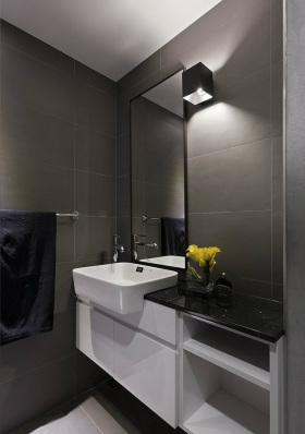 灰色中式卫生间浴室柜装修