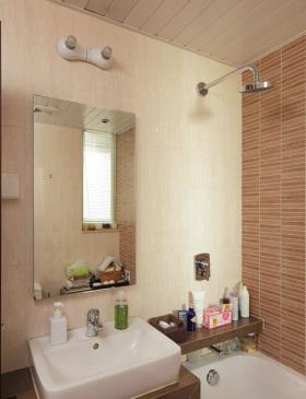 米色中式卫生间装修