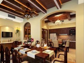 黄色地中海餐厅吊顶效果图