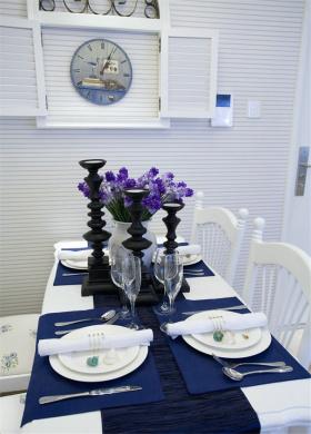 白色地中海餐厅设计