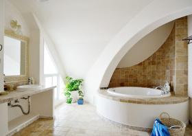 白色地中海卫生间浴室柜效果图