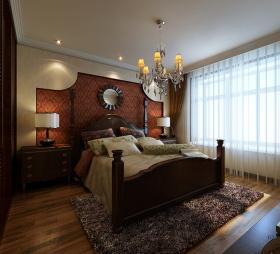 黄色地中海卧室背景墙效果图