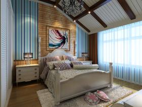 黄色地中海卧室吊顶效果图