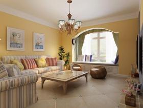 地中海风格三居室客厅装修设计